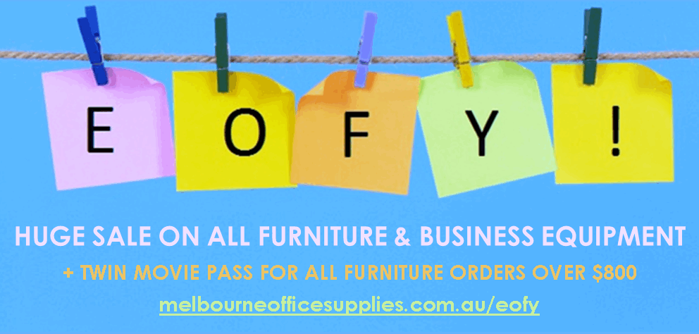 Huge Sale On All Furniture & Business Equipment + Twin Movie Pass For All Furniture Orders Over $800 - melbourneofficesupplies.com.au/eofy