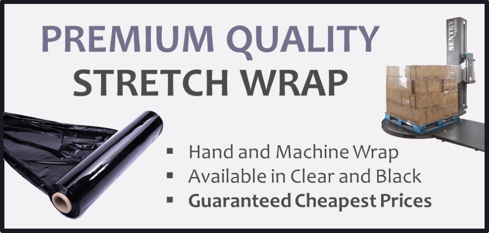 Premium Quality Stretch Wrap. Hand and Machine Wrap. Available in Clear and Black. Guaranteed Cheapest Prices
