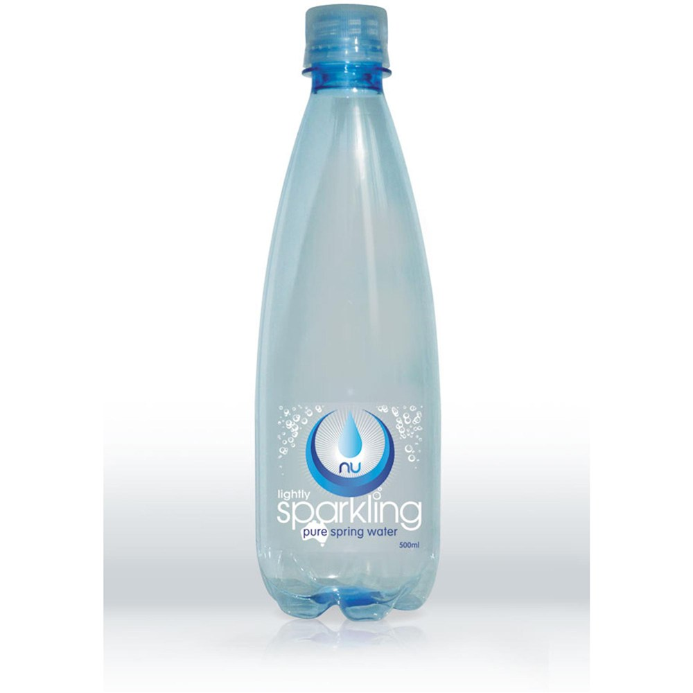 5260613435 NU-PURE LIGHTLY SPARKLING SPRING WATER 500ml Bottle Pack of 15 ...