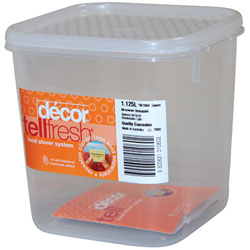 DECOR TELLFRESH CLEAR PLASTIC CONTAINERS WITH LID