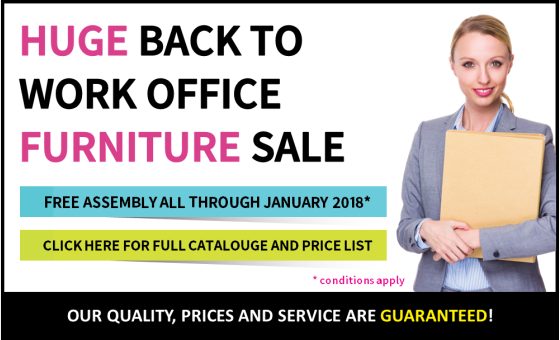 Huge Back To Work Office Furniture Sale. Free Assembly All Through January 2018*.