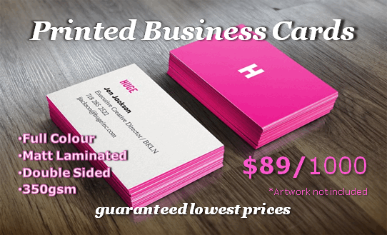 Printed Business Cards - $89 per 1000