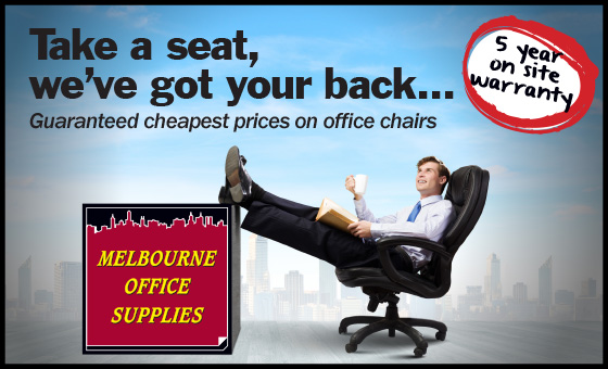 Take a seat, we've got your back! Guaranteed cheapest prices on office chairs