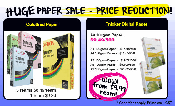 Huge Paper Sale - Price Reduction! Digital paper from just $9.49 a ream.