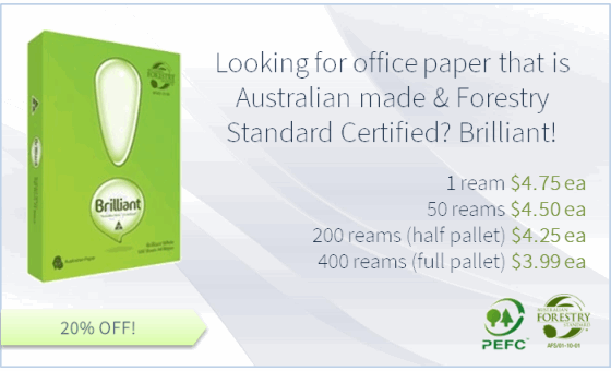 Looking for office paper that is Australian made & Forestry Standard Certified? Brilliant!