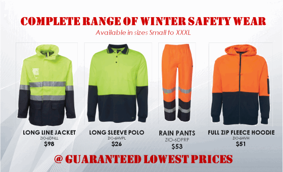 Complete Range of Winter Safety Wear @ Guaranteed Lowest Prices